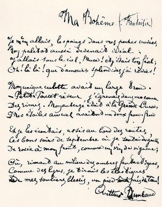 Ma boh me rimbaud - Le salon du manuscrit ...