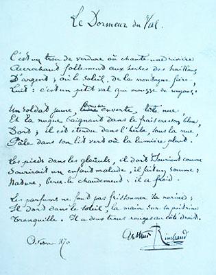 Le Dormeur Du Val Arthur Rimbaud
