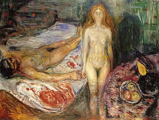 Edvard Munch, La mort de Marat, 1907